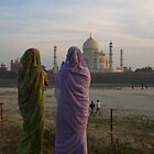 Gazing over the Taj by James Godber