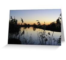 Great Ouse Sunset Greeting Card
