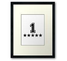 Number 1 Framed Print