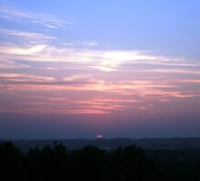 Southern (Illinois) Sunset from Bald Knob Cross site by wesbennett100
