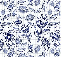 doodle floral pattern by Lanka69