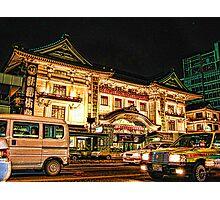 KABUKI-ZA Theater, Ginza. Tokyo, Japan Photographic Print