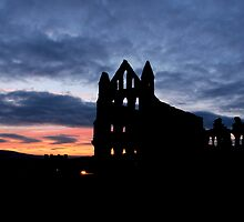 whitby abbey by jon  daly