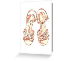 Coral Sandals Greeting Card