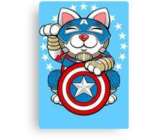 Lucky Cap Cat Canvas Print