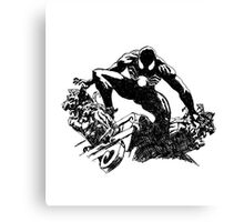 Black Spider-Man (Pen) Canvas Print
