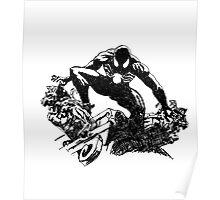 Black Spider-Man (Pen) Poster