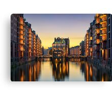 Wasserschloss in Hamburg, Germany Canvas Print