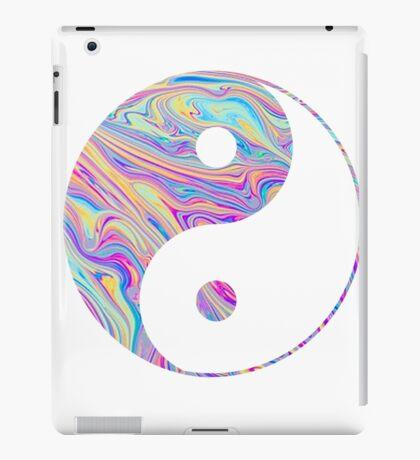 Rainbow Swirl Yin Yang iPad Case/Skin