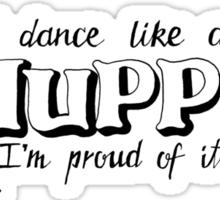 Dance Like A Muppet Handlettering Sticker