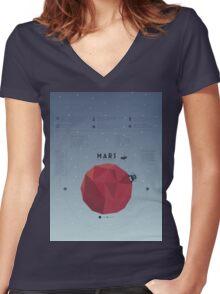Mars Women's Fitted V-Neck T-Shirt