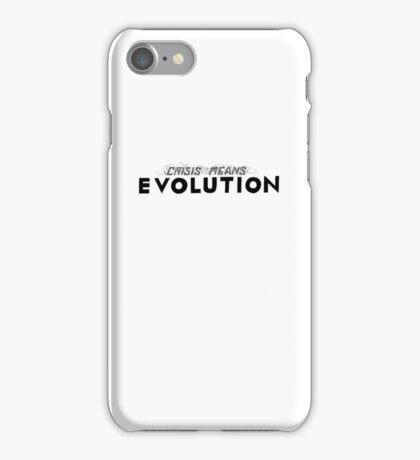 Crisis Means Evolution Handlettering iPhone Case/Skin