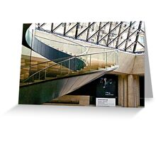 Louvre Sweeping Staircase Greeting Card