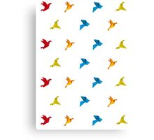 Origami Bird in Flight Canvas Print