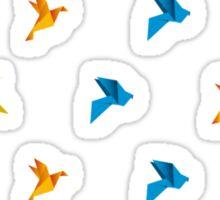Origami Bird in Flight Sticker