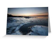 Icy Shoreline Greeting Card