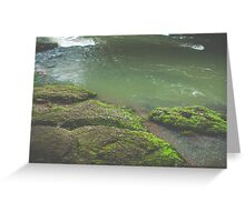 Green Waters Greeting Card