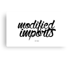 Modified Imports Canvas Print