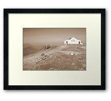 Croagh Patrick church Framed Print