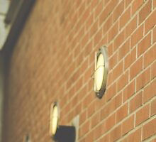 Brick Wall and Lights by Captured Moments