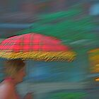 Woman with Red Umbrella by RonnieGinnever