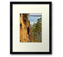 Red Cliffs and Blue Water Framed Print