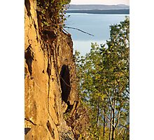 Red Cliffs and Blue Water Photographic Print