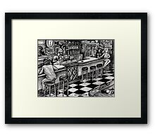 Eight Ball, Corner Pocket... Framed Print