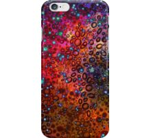 RAINBOW DOTTY OCEAN Colorful Bold Whimsical Polka Dots Galaxy Spots Pink Red Purple Pattern Abstract Watercolor Painting iPhone Case/Skin