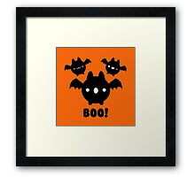 Halloween Adorable Kawaii Bat Framed Print