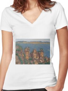 The Three Sisters Women's Fitted V-Neck T-Shirt