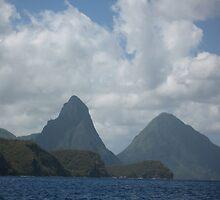 St. Lucian Pitons by CJBNase