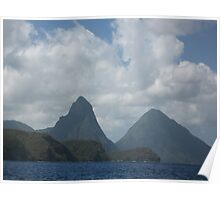 St. Lucian Pitons Poster