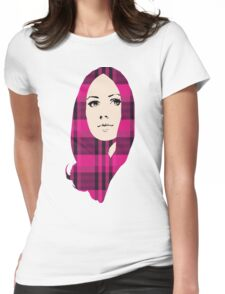 GIRLY PLAID Womens Fitted T-Shirt