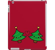 Adorable Kawaii Christmas Tree Couple iPad Case/Skin