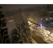 Lights and snow Photographic Print