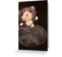 Fuzzy Cat Greeting Card