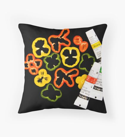 Form of Food - Capsicum Throw Pillow