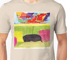 Still Life with Black Dog Unisex T-Shirt