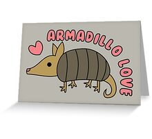 Adorable Kawaii Armadillo with text Greeting Card