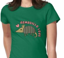 Adorable Kawaii Armadillo with text Womens Fitted T-Shirt
