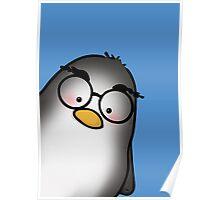 Eyebrow Penguin Poster