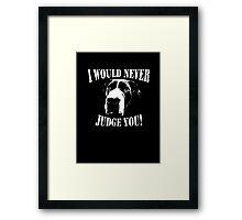 Pit bull love  Framed Print