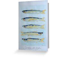 sardine alla griglia © patricia vannucci 2008  Greeting Card