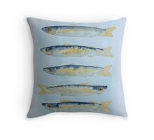 sardine alla griglia © patricia vannucci 2008  Throw Pillow