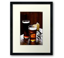 A Pint Or Two Framed Print