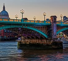 Southwark Bridge, London, England by atomov
