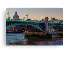 Southwark Bridge, London, England Canvas Print