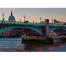 Southwark Bridge, London, England Photographic Print