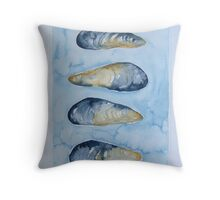 cozze in umido © patricia vannucci 2008  Throw Pillow